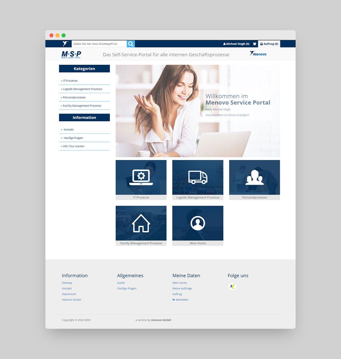 Menovo Service Portal