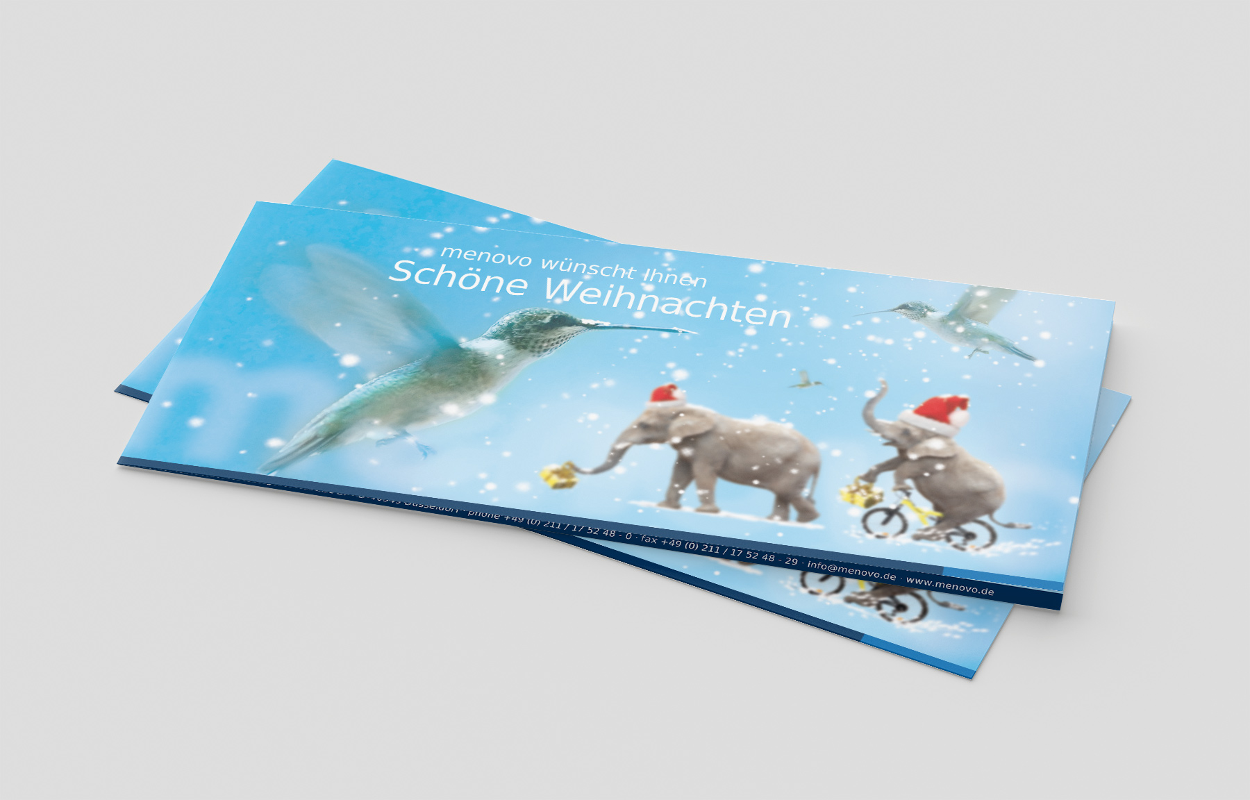 menovo Weihnachtskarte