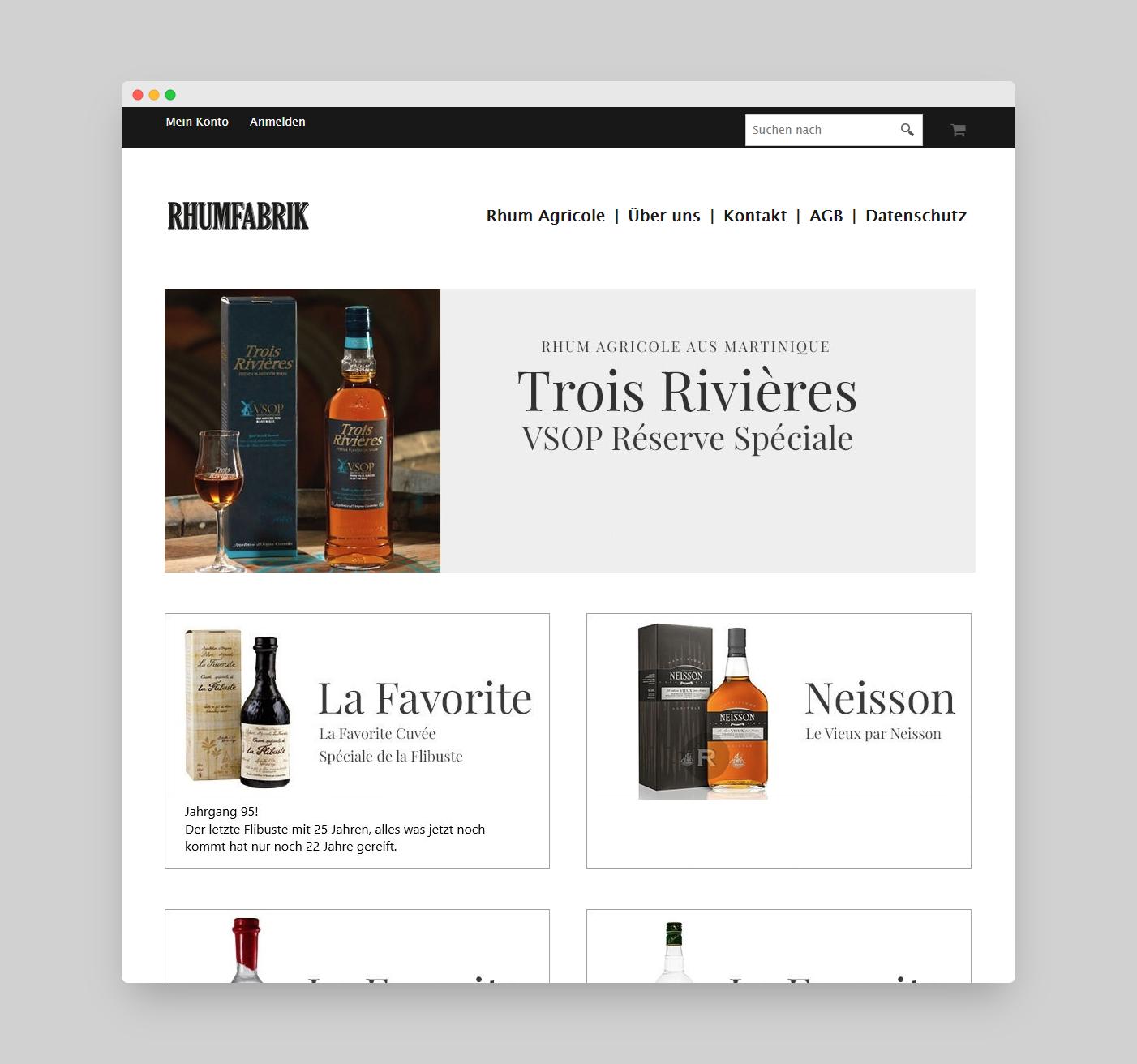 Rhumfabrik Online-Shop